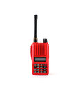 Vhf transceiver red radio on white background Stock Image