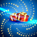 Vhristmas gift box Royalty Free Stock Images