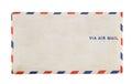 Via Air Mail Vintage Envelope 1941 Airmail Royalty Free Stock Photo