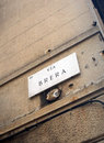 Via brera street sign for the italian region of Stock Photo