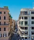 Via Condotti, Rome. This street is the center of fashion shoppin Royalty Free Stock Photo