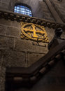 Via crucis signal in the santiago de compostela cathedral Stock Images