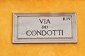 Via dei Condotti street Royalty Free Stock Photo