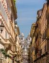 Via dei Condotti, a street in the center of Rome Royalty Free Stock Photo