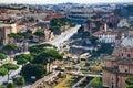 Via dei Fori Imperiali to Coliseum, Rome Royalty Free Stock Photo