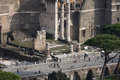 Via dei fori imperiali via dellimpero forum aerial view the is a road in the centre of the city of rome italy that runs in a Stock Image