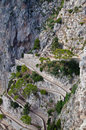 The via Krupp in Capri island, Italy Stock Photography