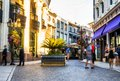 Via Rodeo gold sunset- Rodeo Drive on the August 12th, 2017 - Los Angeles, LA, California, CA Royalty Free Stock Photo