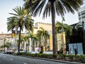 Via Rodeo - Rodeo Drive, palms on the August 12th, 2017 - Los Angeles, LA, California, CA Royalty Free Stock Photo
