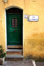 Via XI Febbraio - Italian typical door Royalty Free Stock Photography
