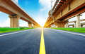 Viaduct concrete road curve of in shanghai china outdoor Royalty Free Stock Photo