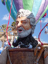 Viareggio italy february allegorical float of beppe gri grillo at carnival held Stock Photo
