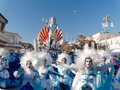 Viareggio italy february allegorical float at viareggio carnival held Stock Image