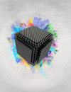 Vibrant 3d box Royalty Free Stock Images