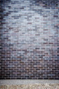 Vibrant blue brick wall Royalty Free Stock Photo
