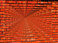 Vibrant Brick Wall Infinity wallpaper Stock Photography