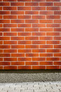 Vibrant brown brick wall Royalty Free Stock Photo