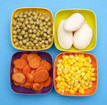Vibrant Canned Vegetables Stock Photos