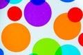 Vibrant colorful circles Royalty Free Stock Photo