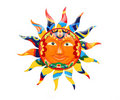 Vibrant Colorful Sun Royalty Free Stock Photography