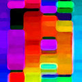 Vibrant colors a abstract of Royalty Free Stock Photography
