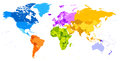 Vibrant Colors world map