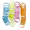 Vibrant curly party streamer Royalty Free Stock Photo