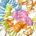 Vibrant curly party streamer  Stock Photo