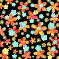 Vibrant floral design on black background Royalty Free Stock Photography
