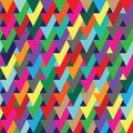 Vibrant geometric optical illusion seamless repeat pattern background