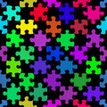 Vibrant jigsaw pieces pattern Stock Photo