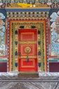 Vibrant  monastery door near Ravangla,Sikkim,India Royalty Free Stock Photo