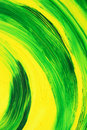 Vibrant oil-painted abstract curves Royalty Free Stock Photo