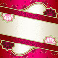 Vibrant pink banner inspired by Indian mehndi desi Royalty Free Stock Photography