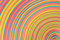 Vibrant rubber strips arranged circular pattern Stock Images