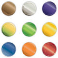 Vibrant Shiny Buttons Royalty Free Stock Images