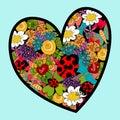 Vibrant spring heart love Royalty Free Stock Photo
