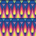 Vibrant triangles seamless pattern background vector with hand drawn elements Royalty Free Stock Photography
