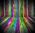 Vibrant Wooden Room Royalty Free Stock Photos