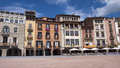 Vic catalonia spain buildings in the plaza mayor in capital osona and located in the province of barcelona Royalty Free Stock Images
