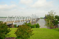 Vicksburg mississippi river bridge the crossing the between delta louisiana and is a cantilever design it services Royalty Free Stock Image