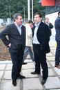 Victor Becali and Ion Craciunescu Royalty Free Stock Photos