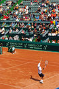 Victor Crivoi vs Prakash Amritraj at Davis Cup 1 Stock Photos