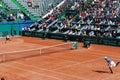 Victor Hanescu vs Somdev Devvarman at Davis Cup Royalty Free Stock Photos