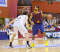 Victor sada of fc barcelona in action at the friendly match between and joventut de badalona final score on september Stock Photography