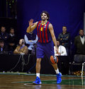 Victor sada of fc barcelona kyiv ukraine november controls a ball during turkish airlines euroleague basketball game against Royalty Free Stock Photography
