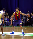 Victor sada of fc barcelona kyiv ukraine november r controls a ball during turkish airlines euroleague basketball game against Stock Photos