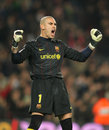 Victor Valdes of Barcelona Royalty Free Stock Photos