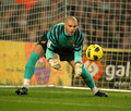 Victor Valdes of Barcelona Stock Photo