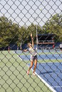 Victoria azarenka professional belarussian tennis player during her practice session at the us open tennis tournament image taken Royalty Free Stock Photography